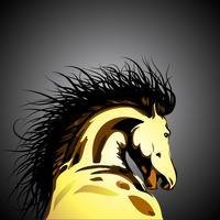 Vetorial, cavalo selvagem, ilustração