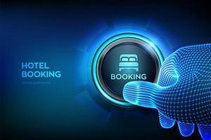 Reserva no hotel. reserva online. aplicativo móvel para alugar vetor