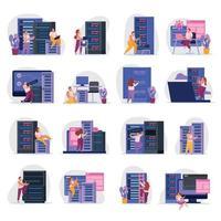 ilustração do vetor ícones do administrador do sistema