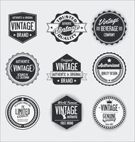 Etiquetas vintage e coleção de crachás vetor