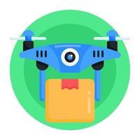 entrega e remessa de drones vetor