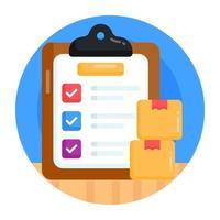 lista de verificação de encomendas e verificada vetor