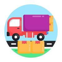 caminhão de entrega e carga vetor
