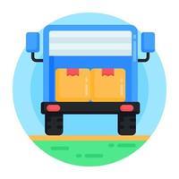 caminhão logístico e remessas vetor