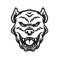 desenho de rosto de cachorro vetor