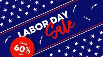 banner da web de grande venda do dia do trabalho vetor