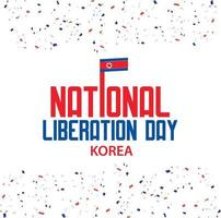 dia da libertação nacional da Coreia em 15 de agosto wallpaper vetor