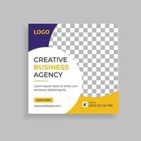 design de modelo de postagem de mídia social para agência de marketing digital vetor