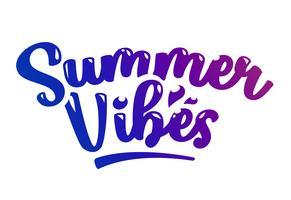 Letras de vetor de vibrações de verão