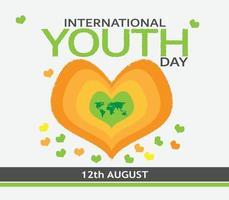 dia internacional da juventude vetor