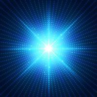 fundo de luz radial futurista de tecnologia abstrata vetor