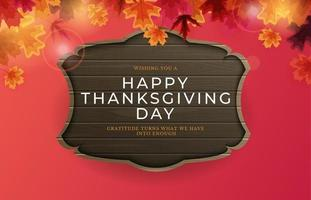 Feliz Dia de Ação de Graças fundo de feriado com folhas caindo vetor