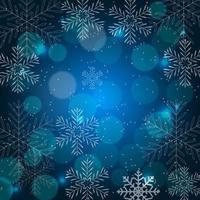 beleza abstrata fundo de Natal e ano novo com neve vetor