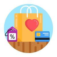 compra de compras favorita vetor