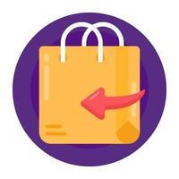 devolução de pedido e compras vetor