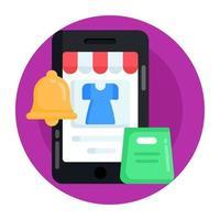 notificação e alerta de compras vetor