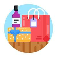 sacola de compras de qualidade vetor