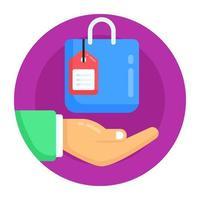 proteção de serviço de compras vetor