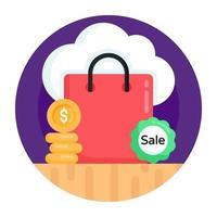 compra e compra na nuvem vetor