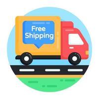 caminhão de transporte e entrega vetor