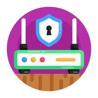roteador de segurança wi-fi vetor