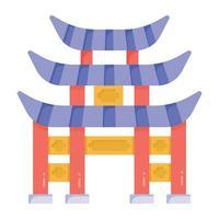 pagode da cidade proibida vetor