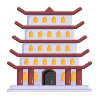 pagode templo japonês vetor