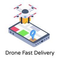 drone entrega rápida vetor