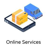 serviços online e logística vetor
