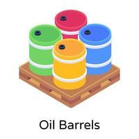 barris de óleo e combustível vetor