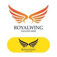 imagem vetorial de pássaro falcão design de logotipo de asas vetor
