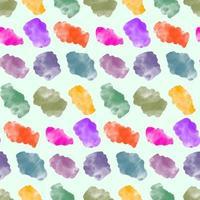padrão uniforme com manchas de aquarela, manchas de tinta irregulares vetor
