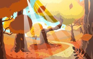 outono outono jardim pacífico vetor