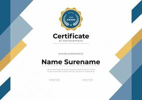 certificado limpo de modelo de realização vetor