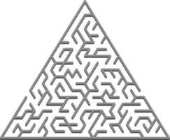 costura padrão vetorial com um labirinto 3d triangular cinza. vetor
