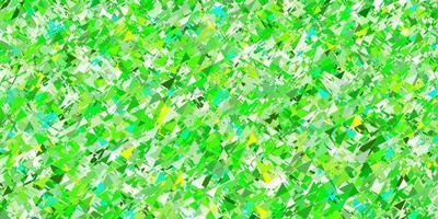 layout de vetor verde e amarelo claro com linhas, triângulos.