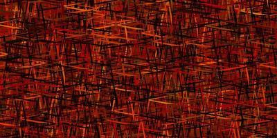 padrão de vetor laranja escuro com linhas nítidas.