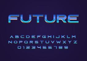 fonte de vetor de estilo de conceito de techno futuro em maiúsculas e número de dígitos