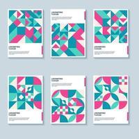 fundo de capa de estilo pop art geométrico para capa de livro ou pôster vetor