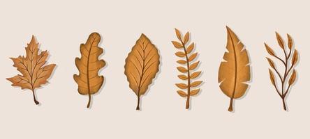 folhas gerais de outono vetor