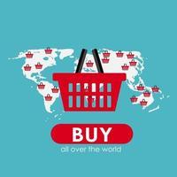 conceito de apartamento de compras online para aplicativos móveis vetor