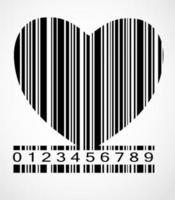 ilustração em vetor imagem coração código de barras