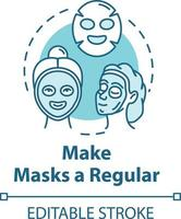 tornar as máscaras regulares, ícone do conceito de procedimento de beleza vetor
