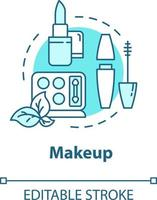 maquiagem, ícone de conceito de produtos de beleza orgânicos vetor