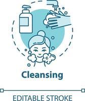 limpeza, ícone do conceito de purificação da pele vetor