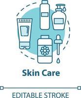 ícone de conceito de beleza de cuidados com a pele, rosto e corpo vetor