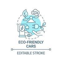 ícone do conceito de carros ecológicos. vetor