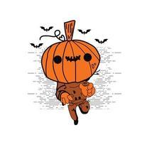 desenho de abóbora de halloween vetor