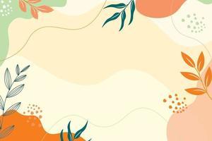 fundo minimalista abstrato desenhado à mão vetor