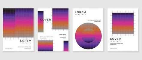 modelo de vetor de capa moderna com aquarela e forma geométrica.